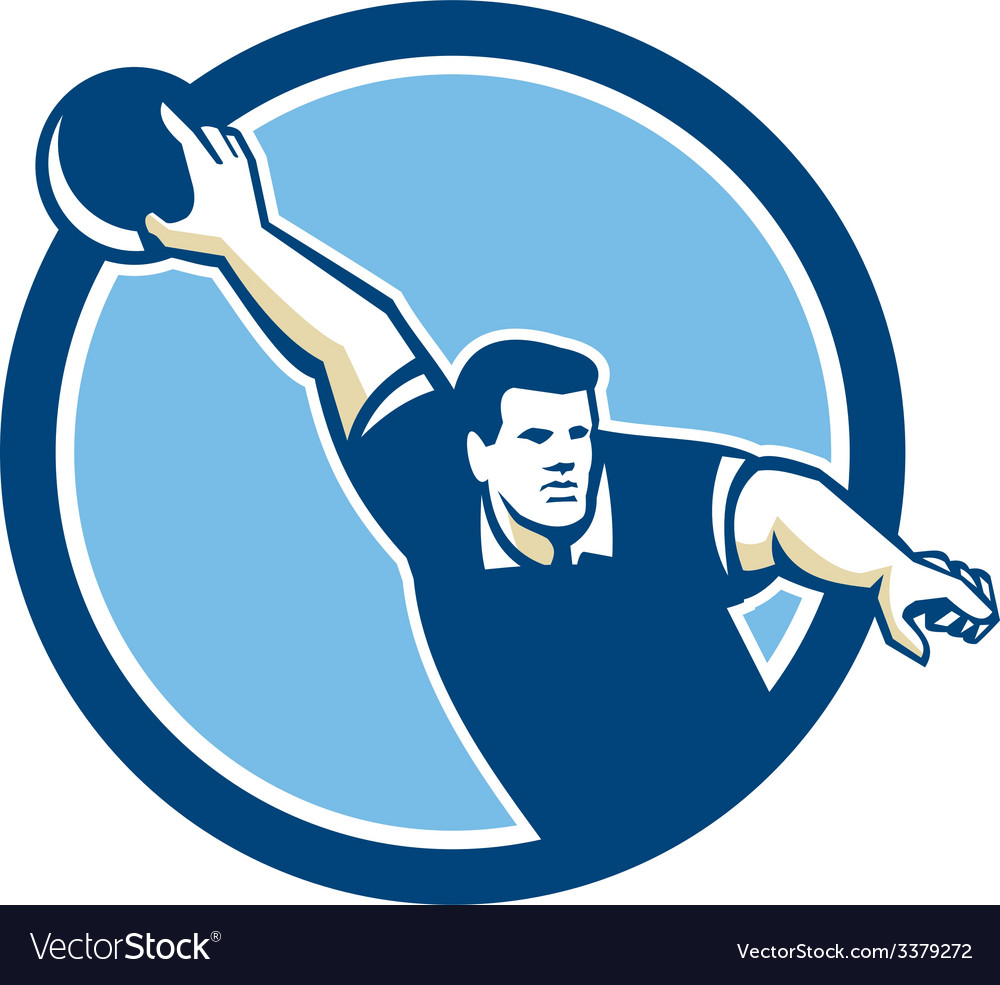Bowler pose bowling ball pins retro vector