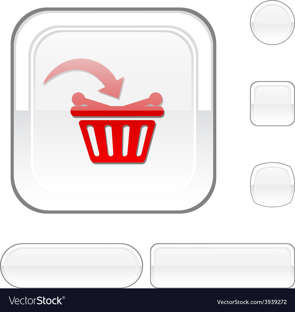 Buy white button vector