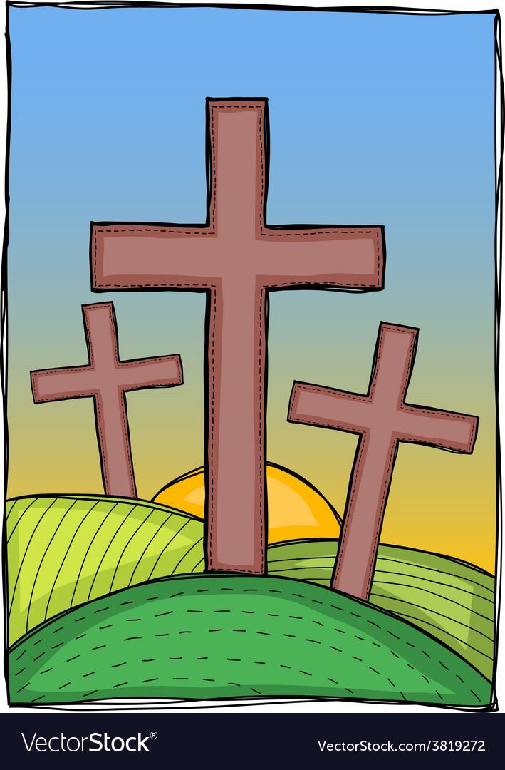 Religion - christian crosses vector
