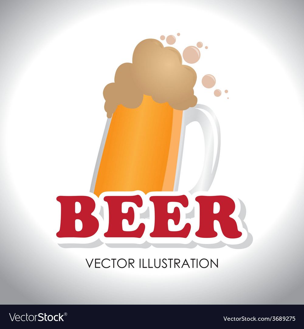 Drink design over white background vector