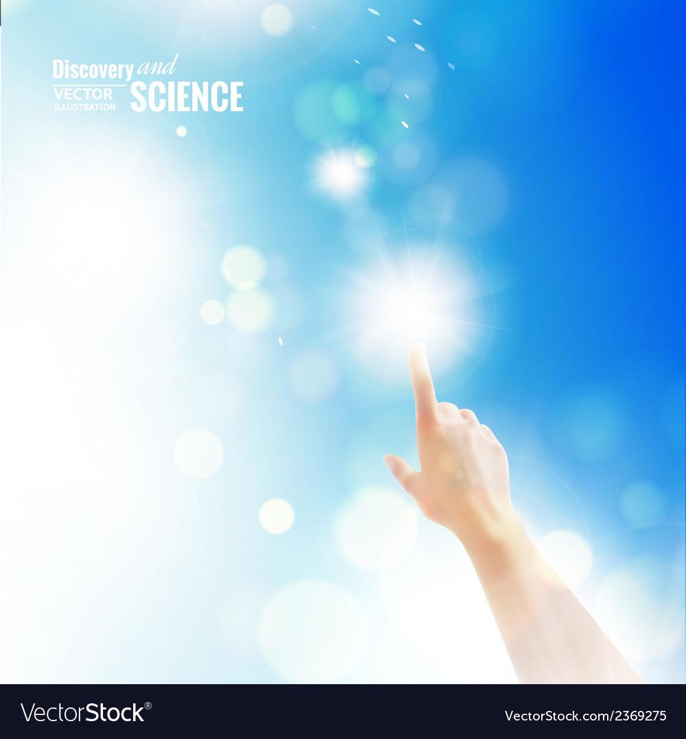 Hand of human vector