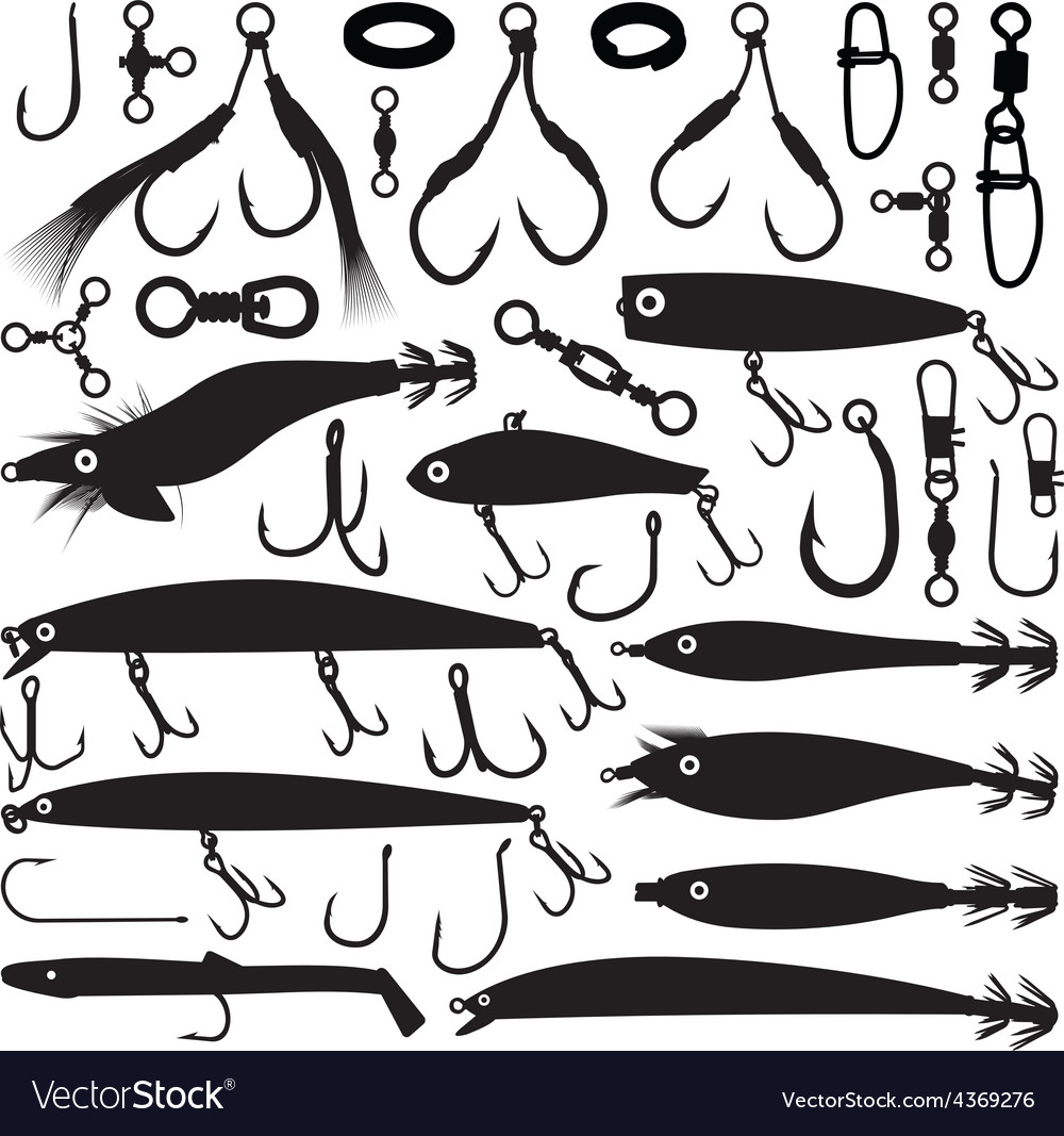 Fishing lures vector