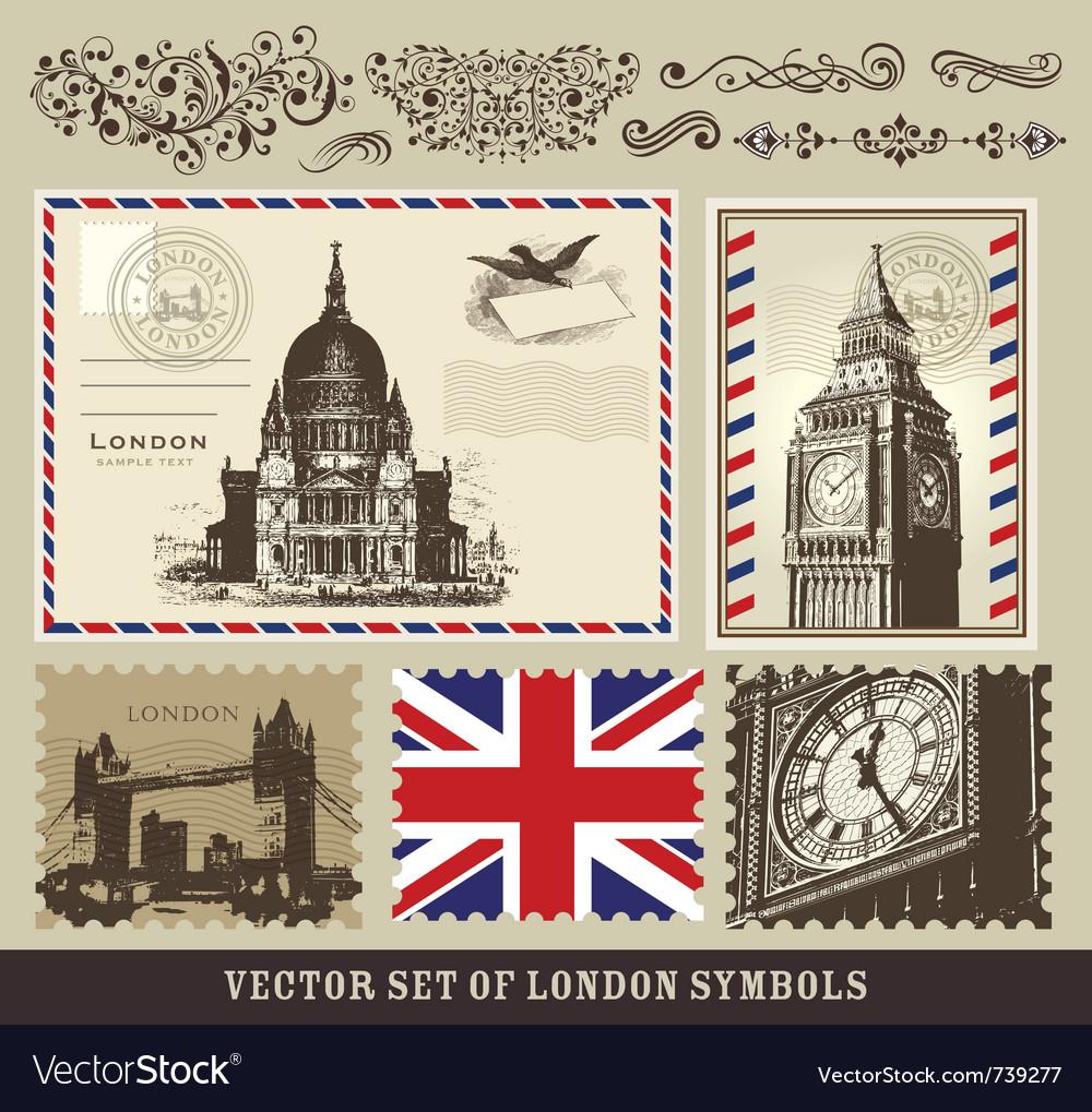 Set of london symbols vector