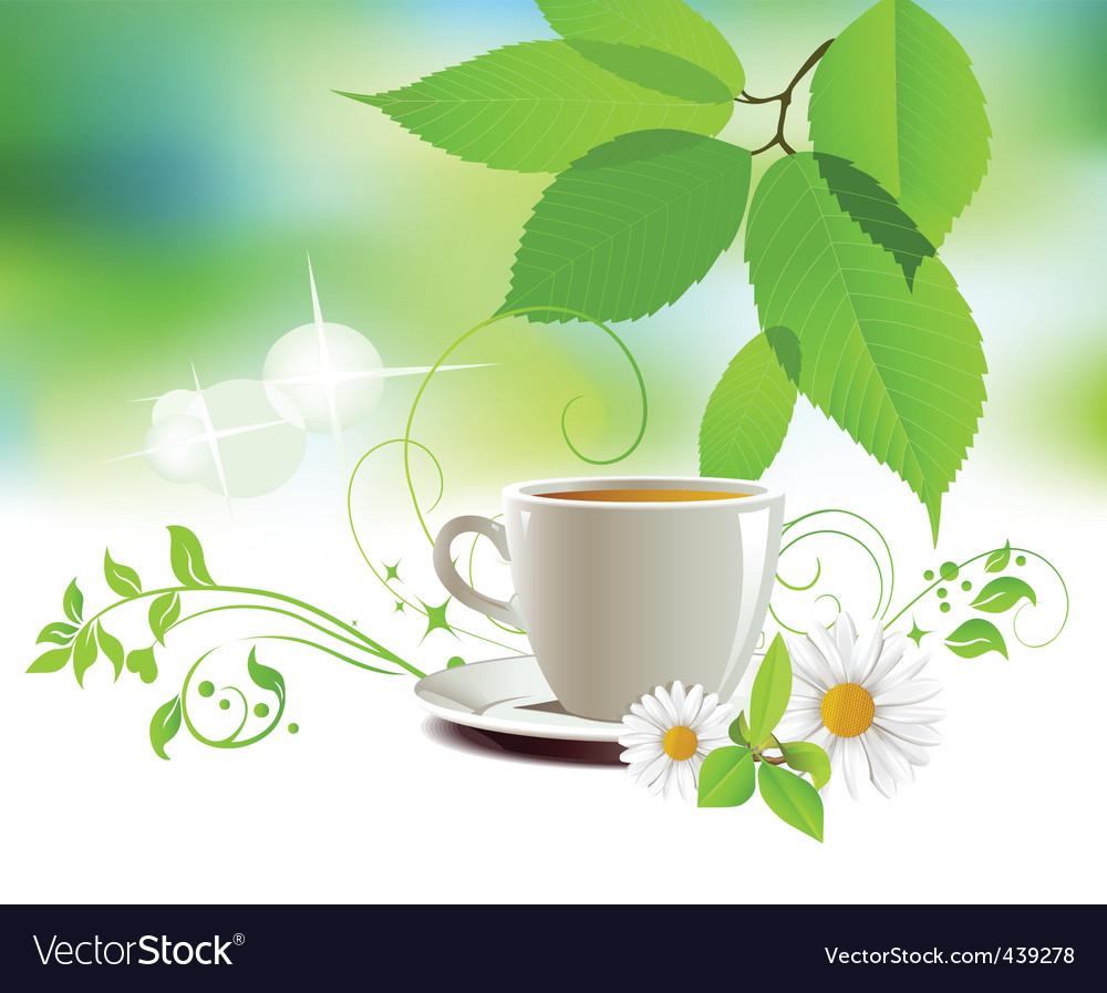Cap of tea vector