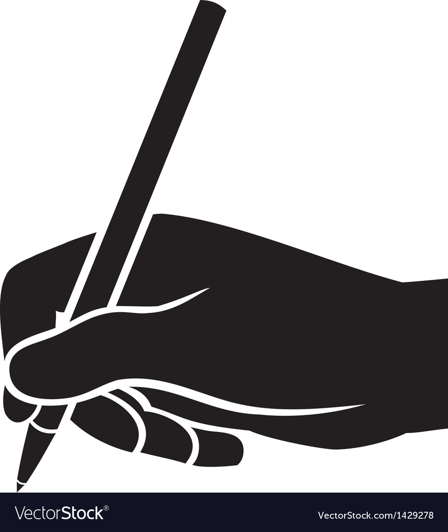 Hand writing vector