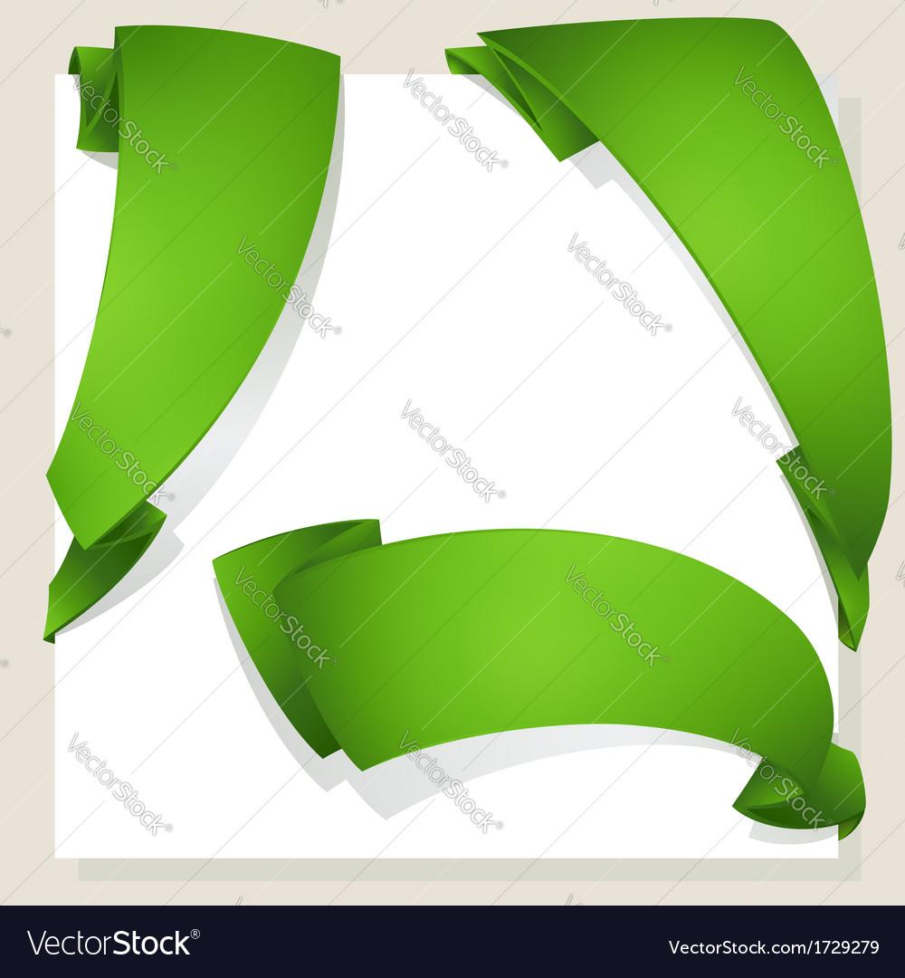 Green ribbon vector