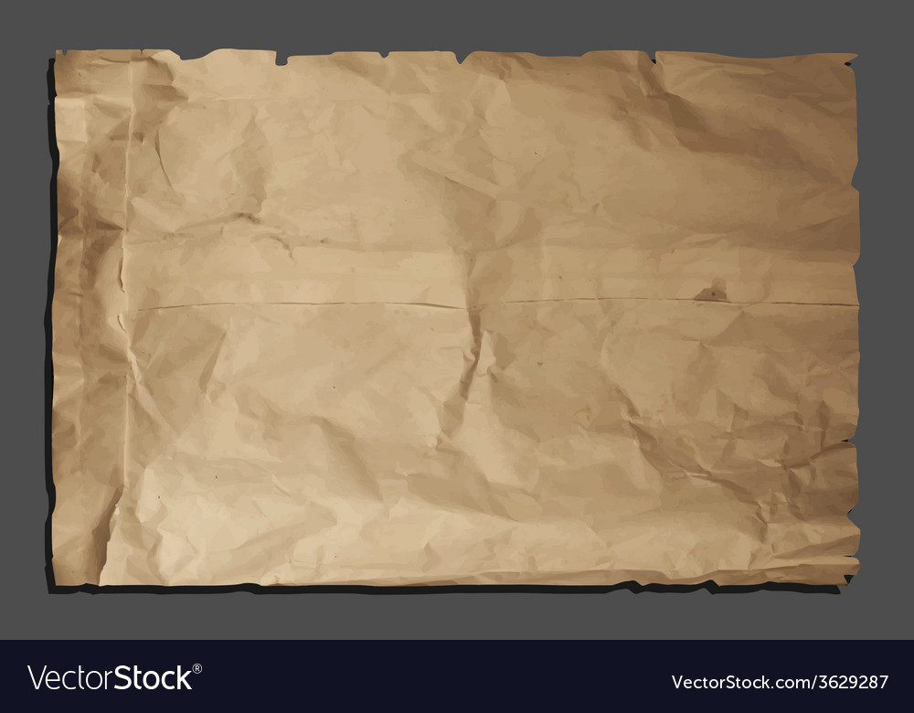 Old torn paper vector