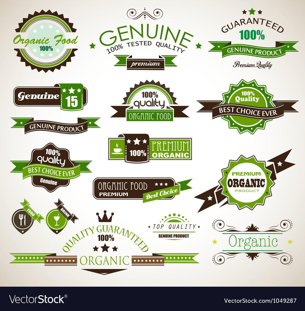 Organic guarantee vector