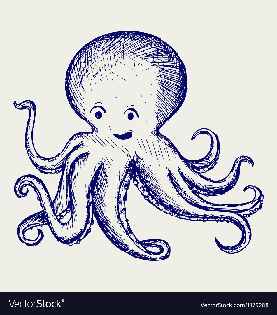 Tentacles octopus vector