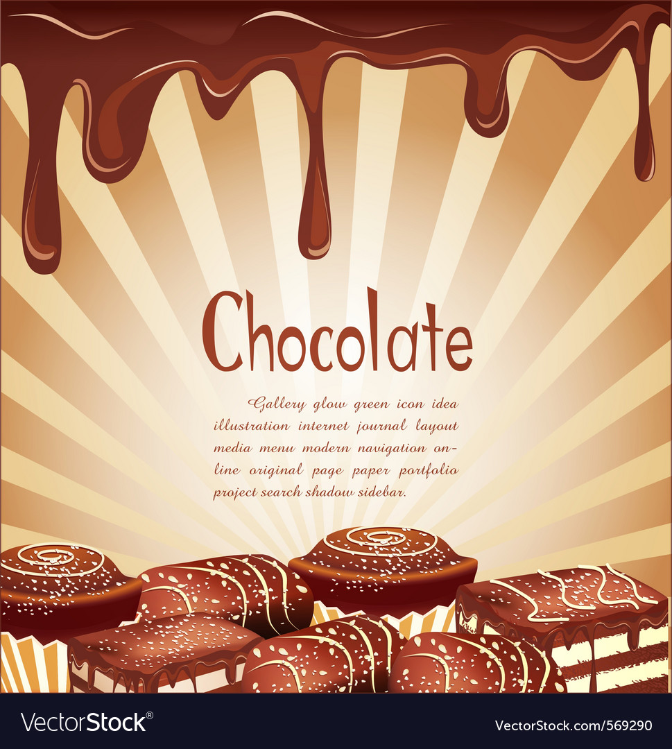 Chocolate candy background vector