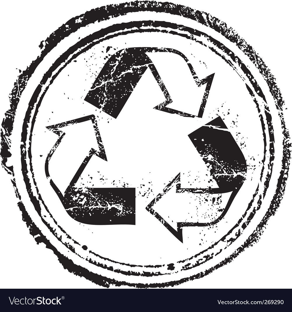 Recycled stamp vector