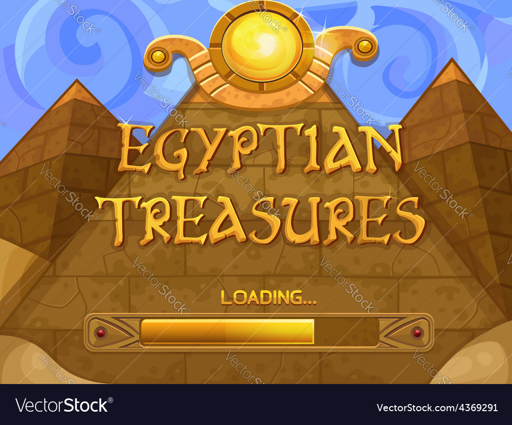 Loading screen for slots game vector