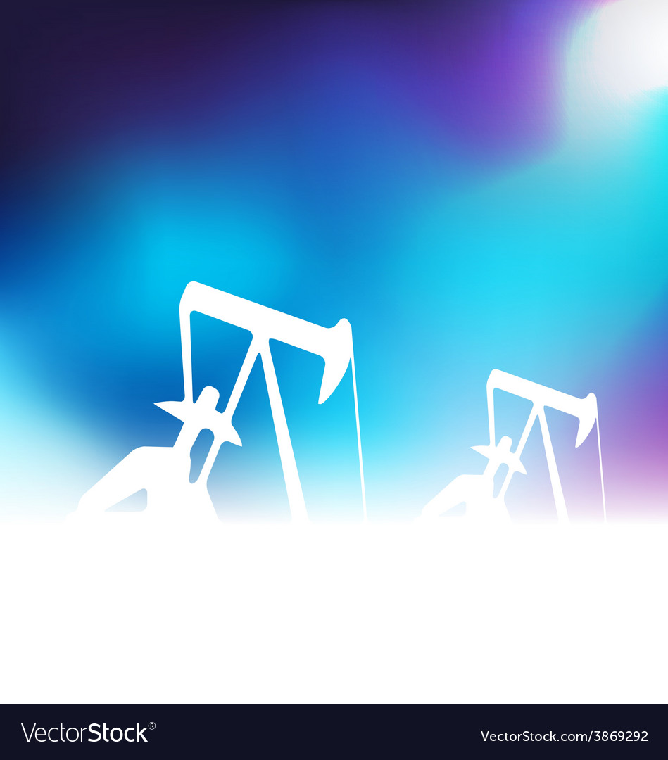 With oil pumps vector