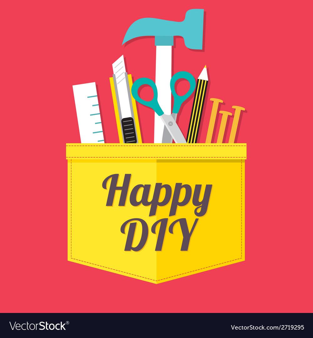 Happy diy vector