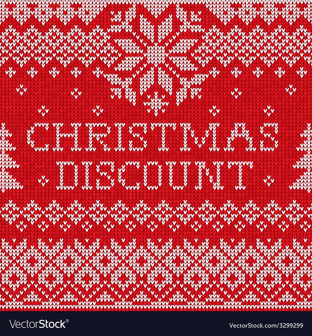 Christmas discount scandinavian style seamless vector