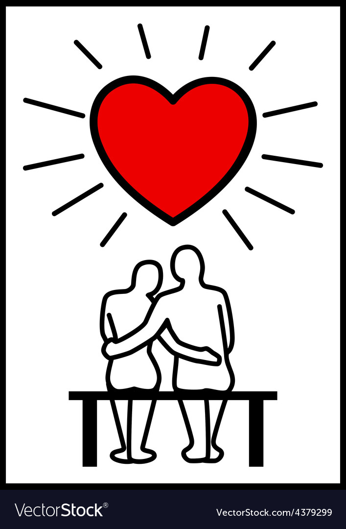 Couples in love vector