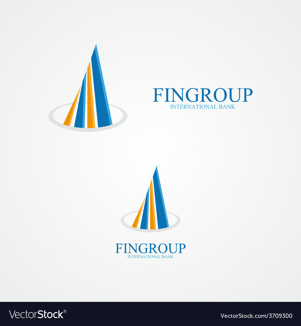 Concept for bank or real estate company vector