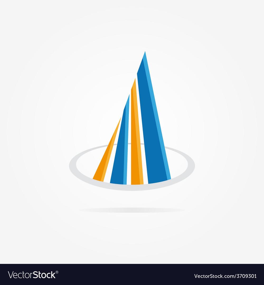 Bank or real estate company logo design vector