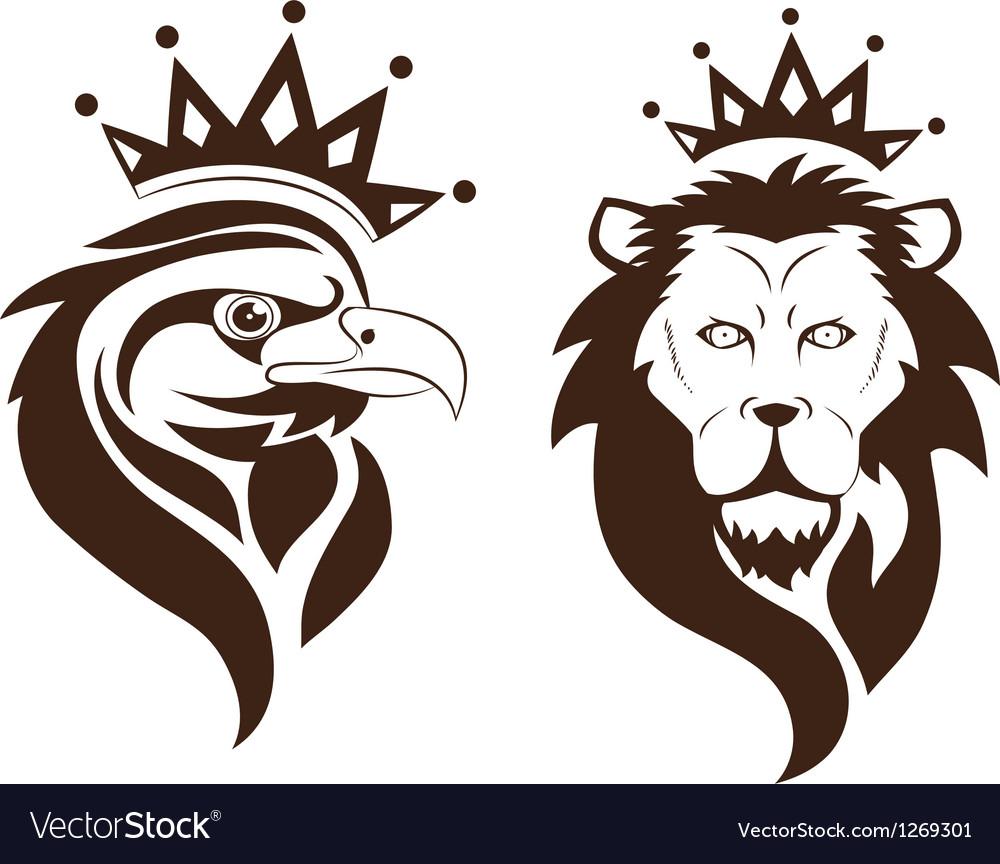 Eagle lion symbol vector