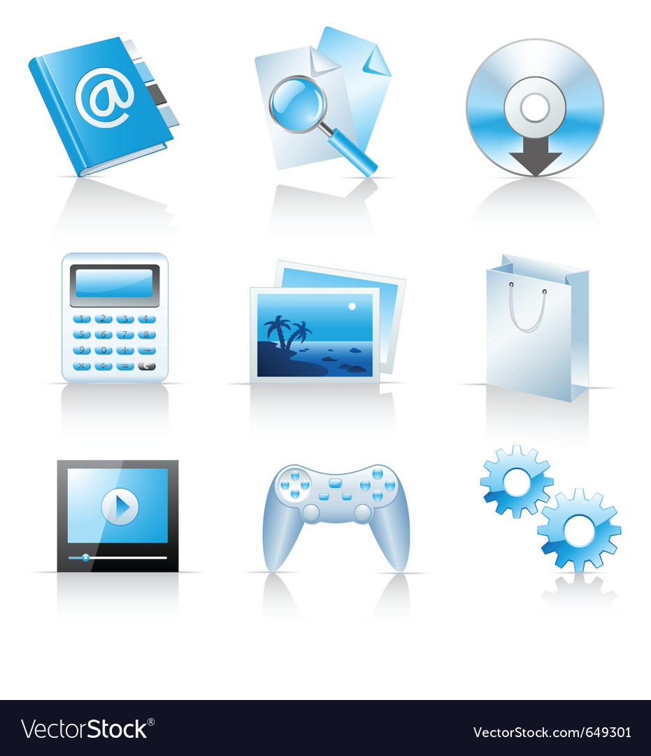 Icons for web applications and services vector