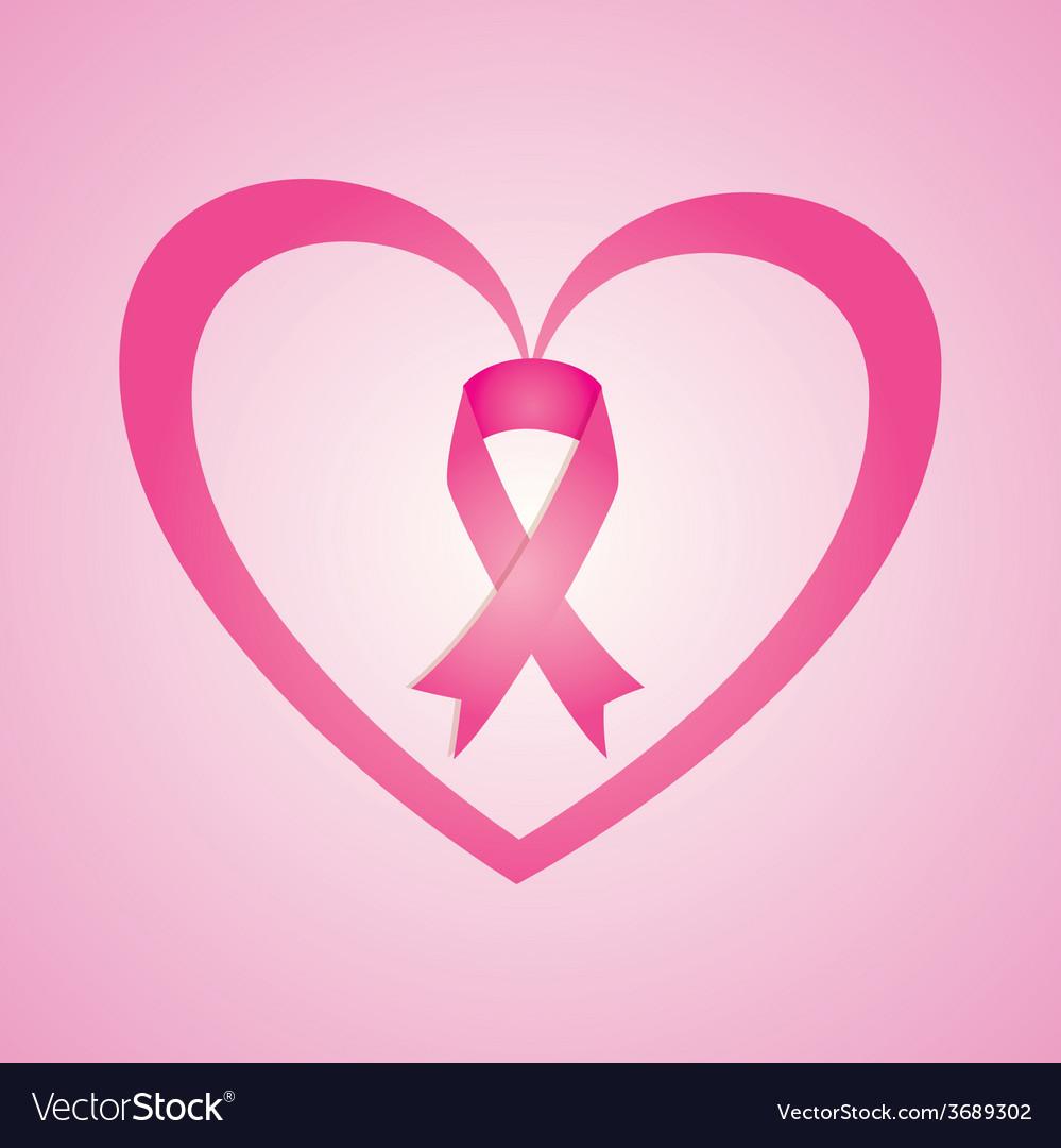 Cancer design over pink background vector