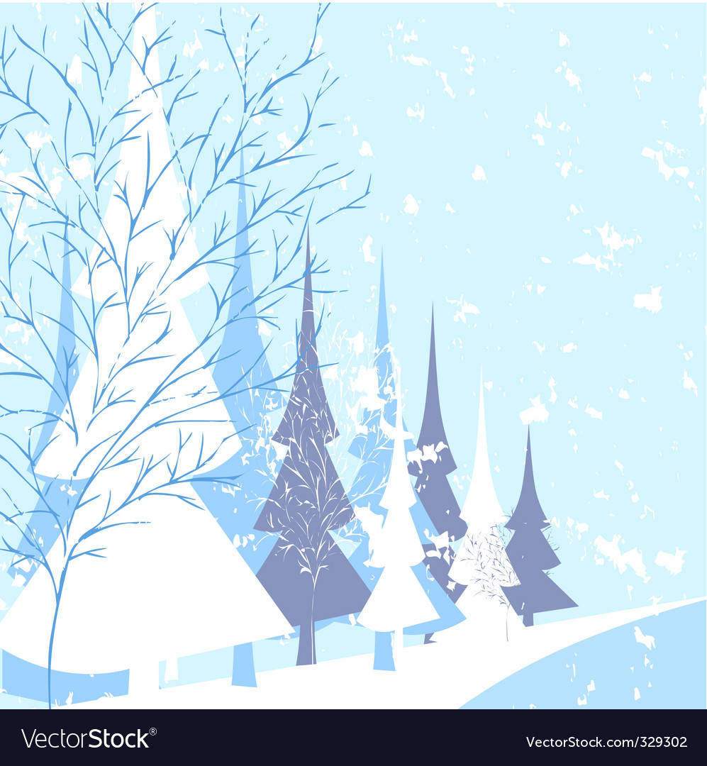 Winter nature vector