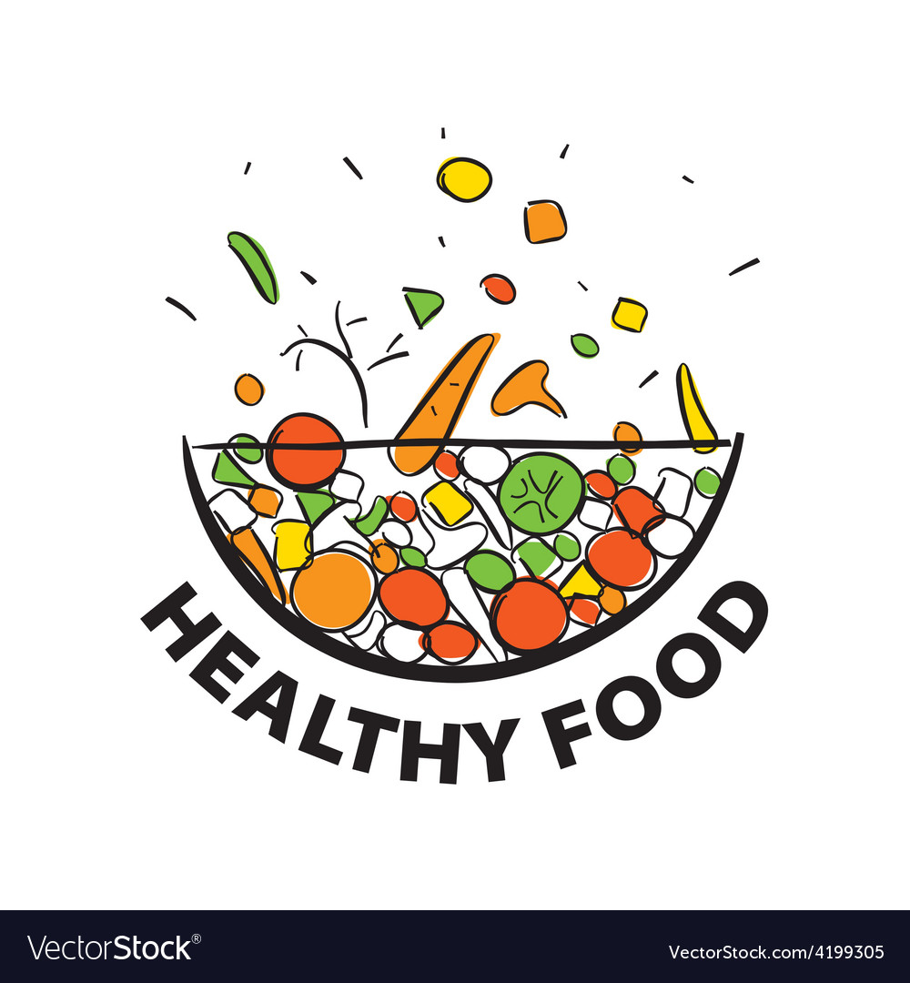 Logo fresh vegetables for a healthy diet vector