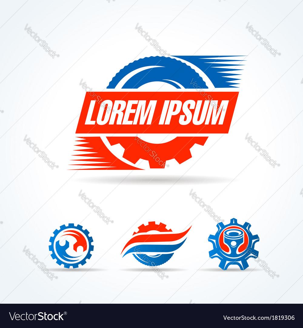 Car service symbol emblem sign set vector