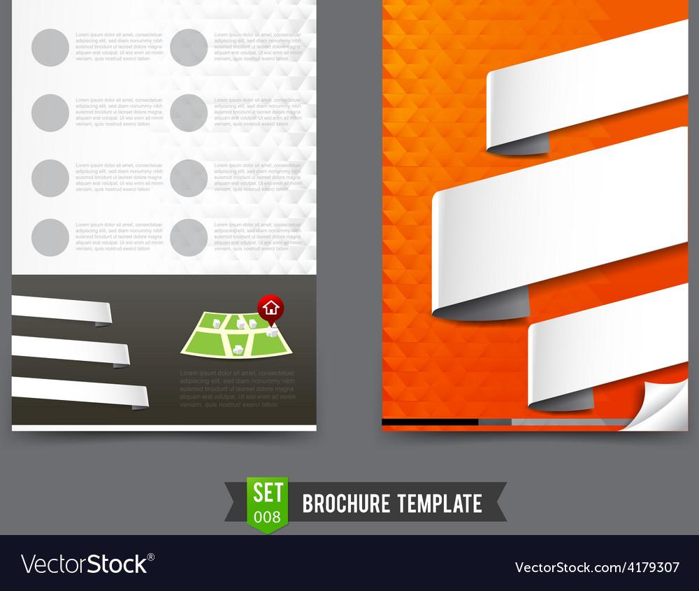 Flyer brochure background template 0008 vector