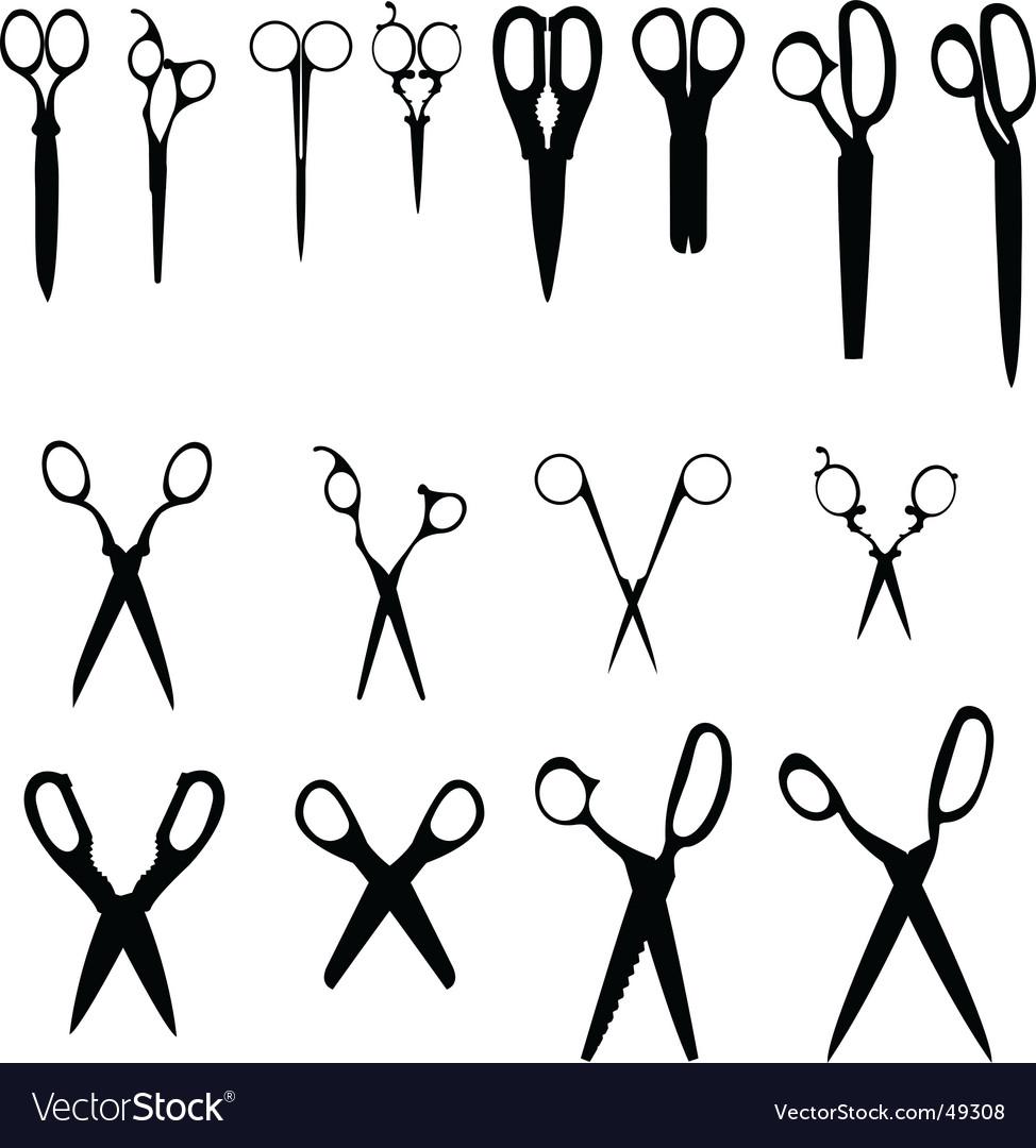 8 scissors vector