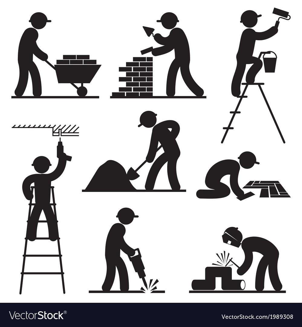 Builder people vector