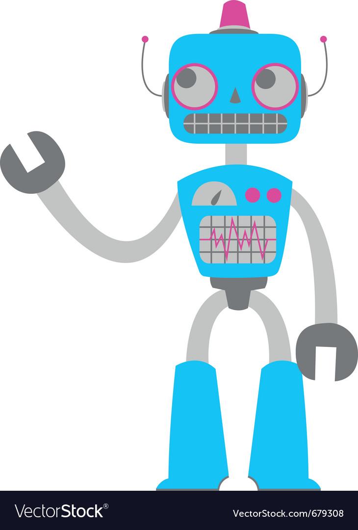 Retro tin robot toy vector