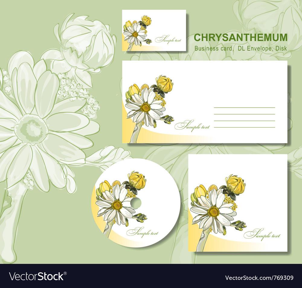 Business card envelopes vector