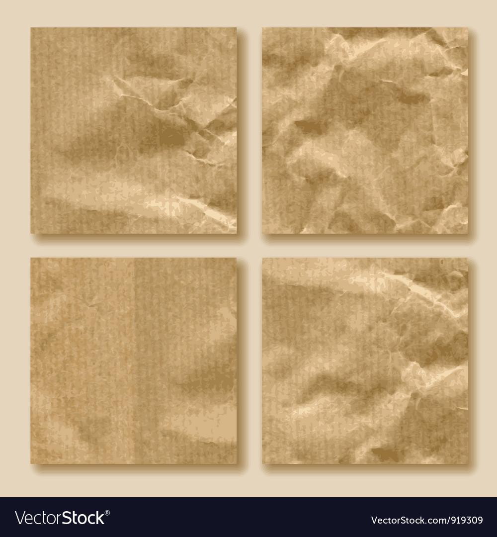 Set of crumpled paper vector