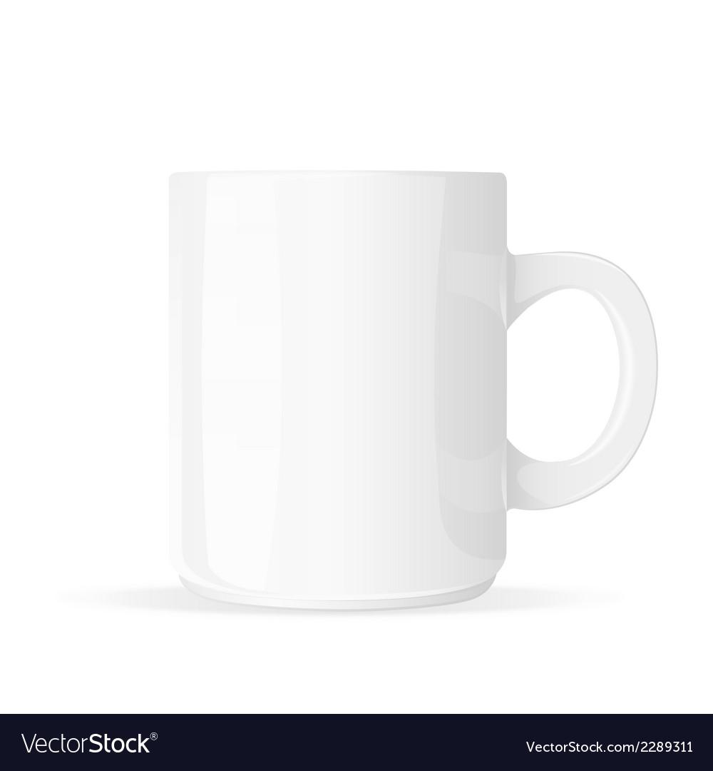 White mug vector