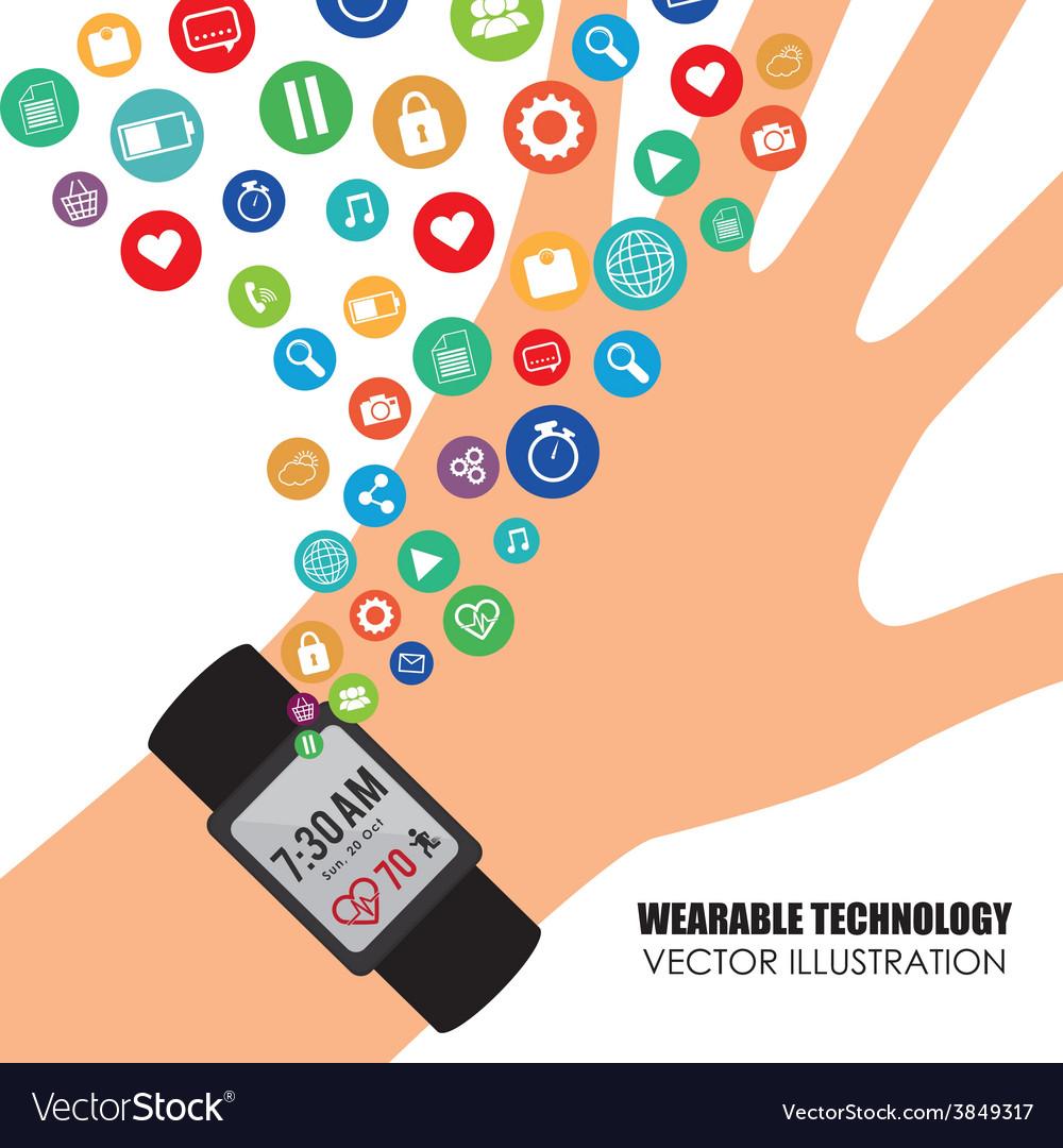 Wearable technology vector