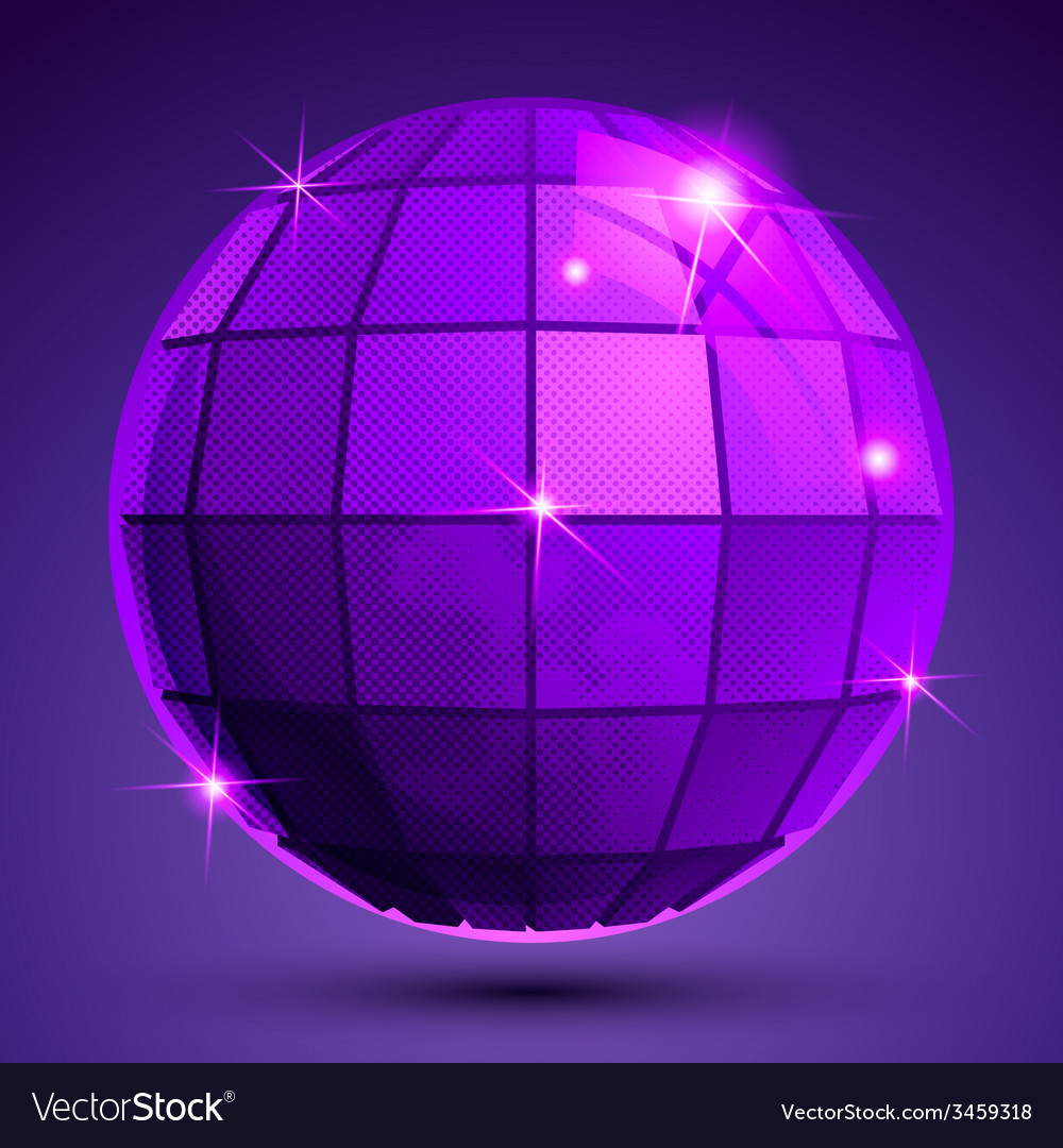 Bright textured plastic spherical object with vector