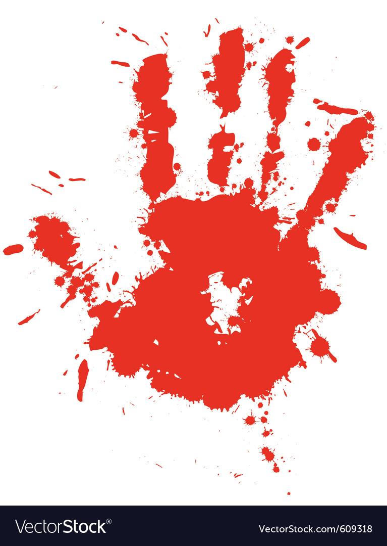 Splatter hand print vector