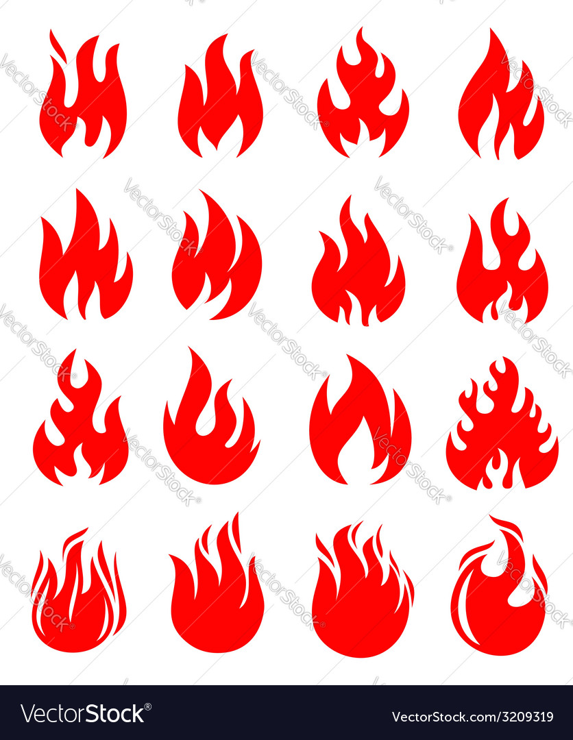 Red fire vector