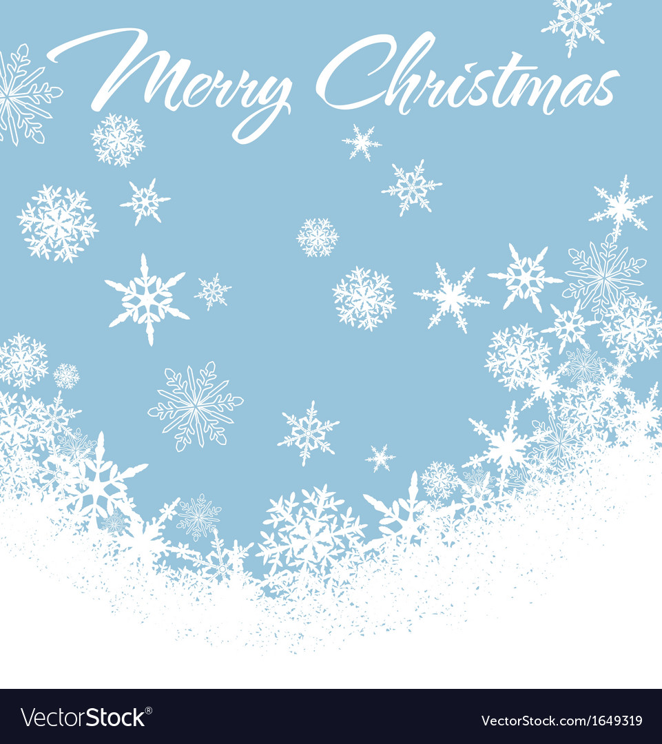 Snowflakes chrismas card blue 2 vector