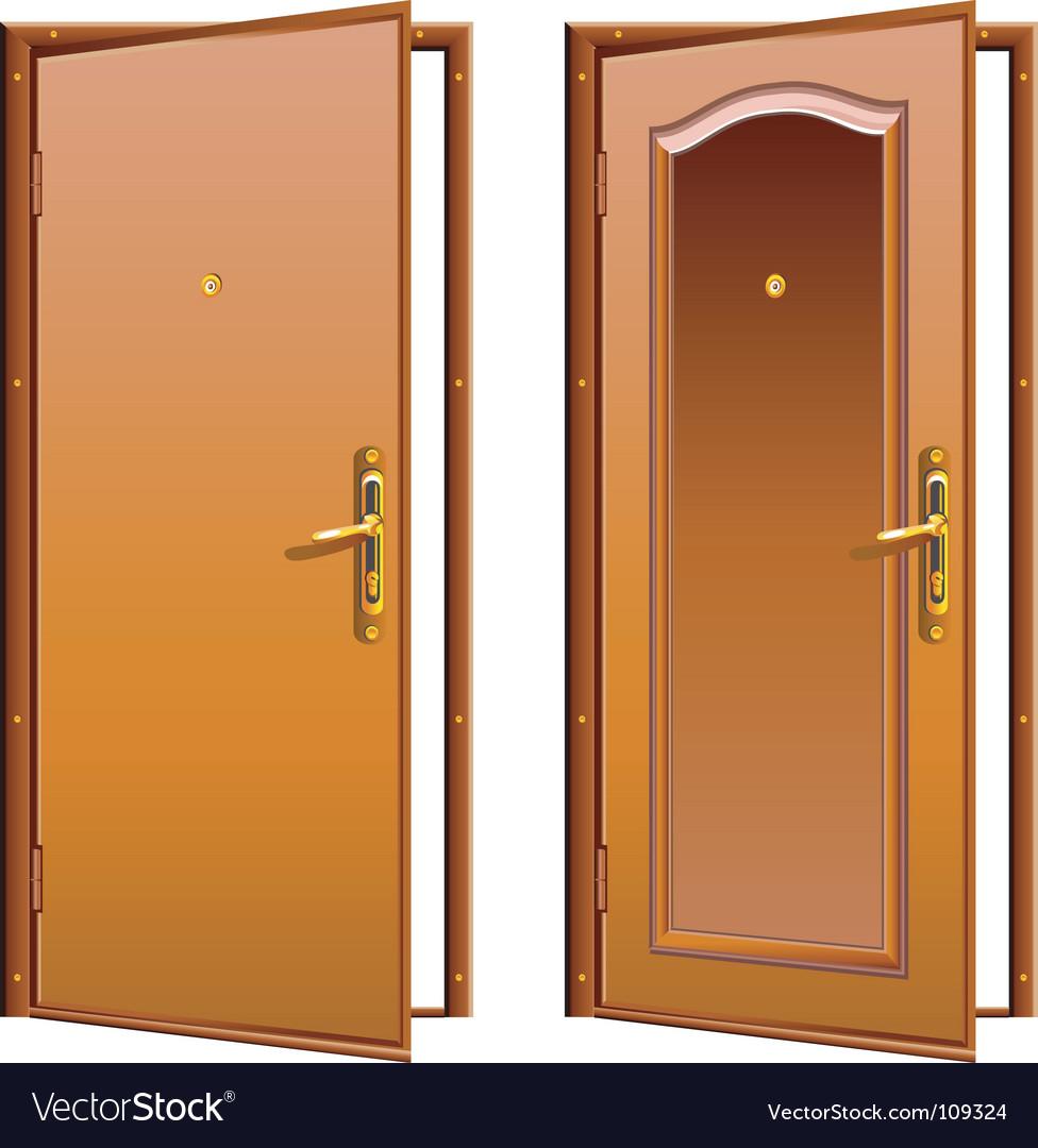 Door opened vector