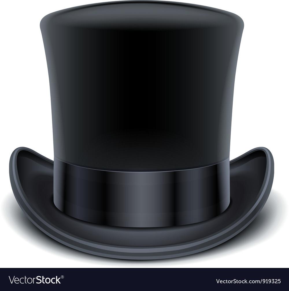 Black top hat vector