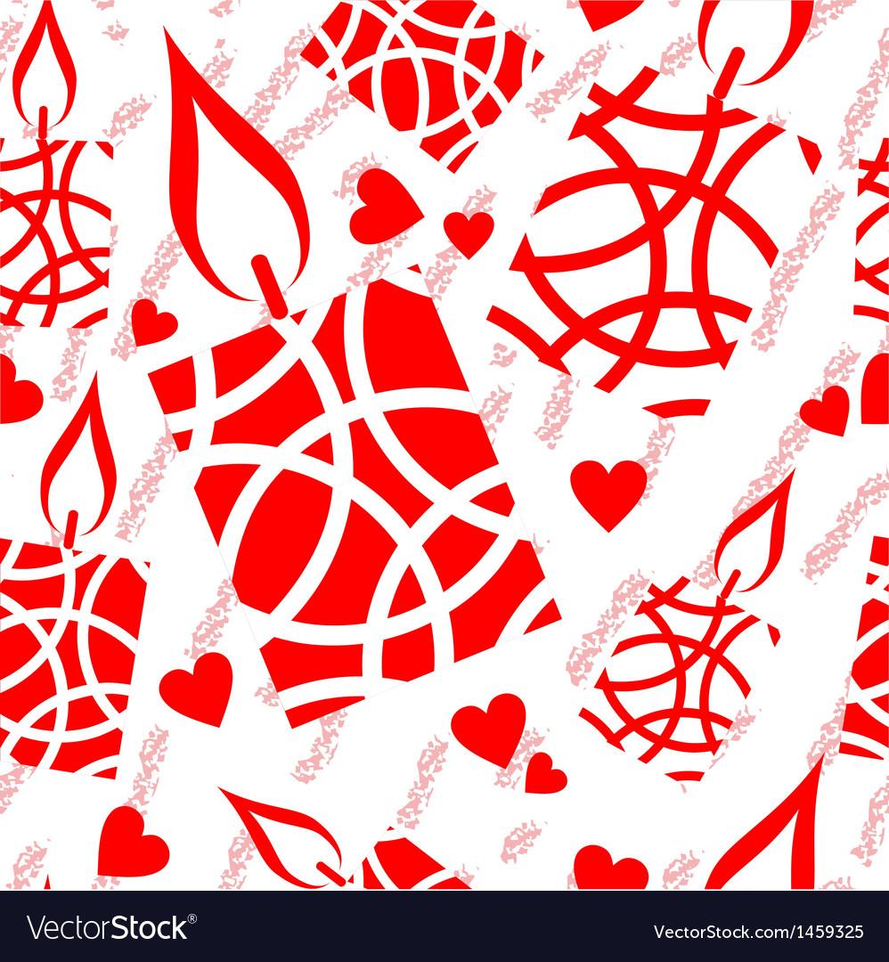 Christmas candle seamless texture vector