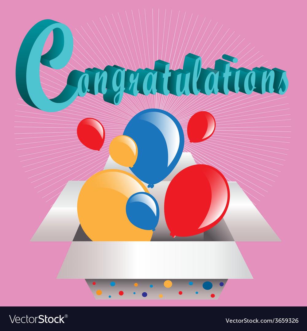 3d text congratulations vector