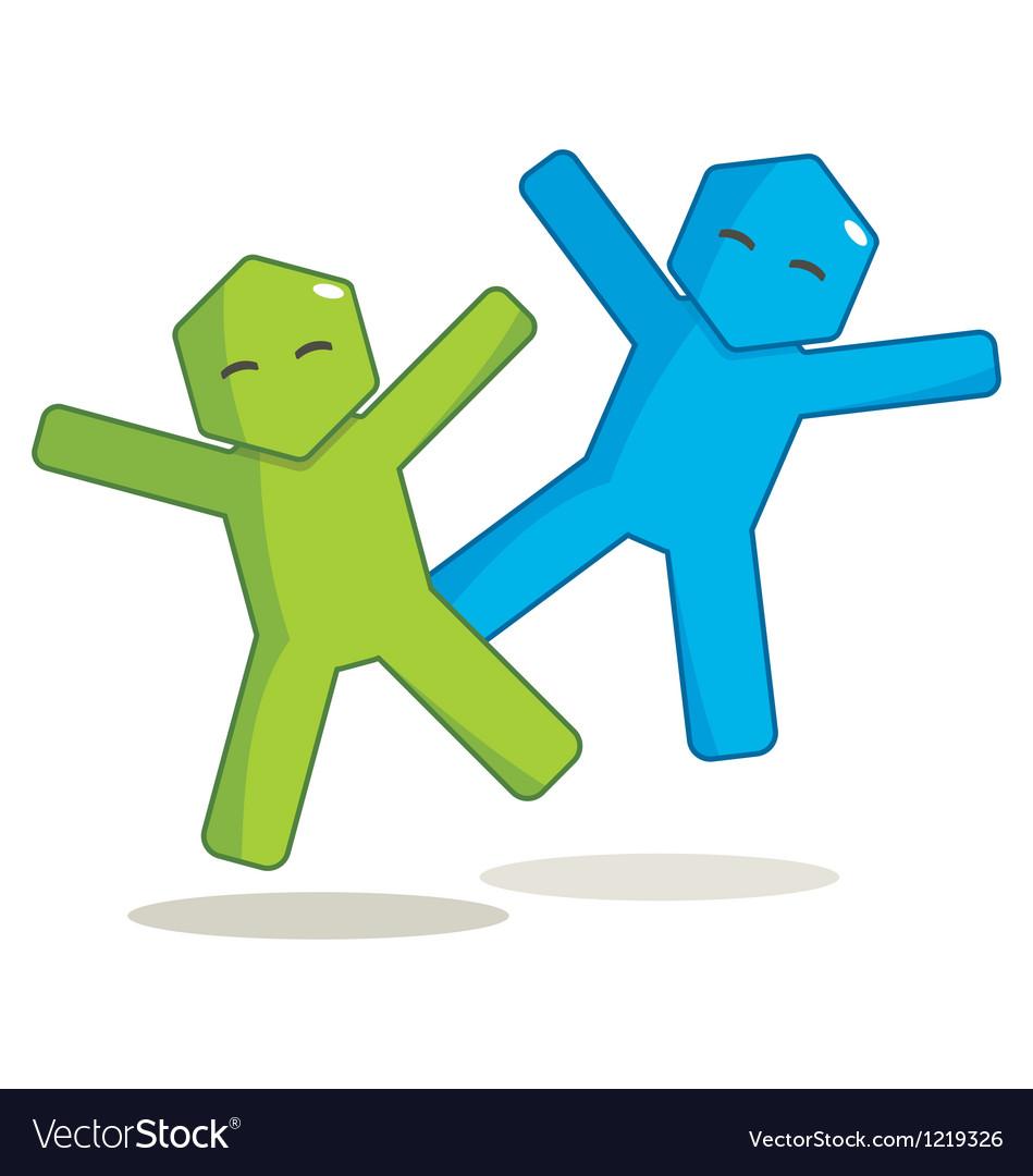 Hexagon man - joy vector