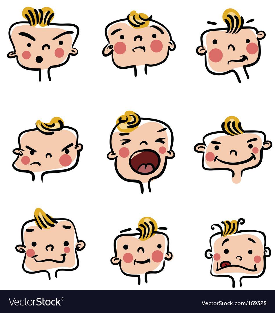 Baby boy illustration vector