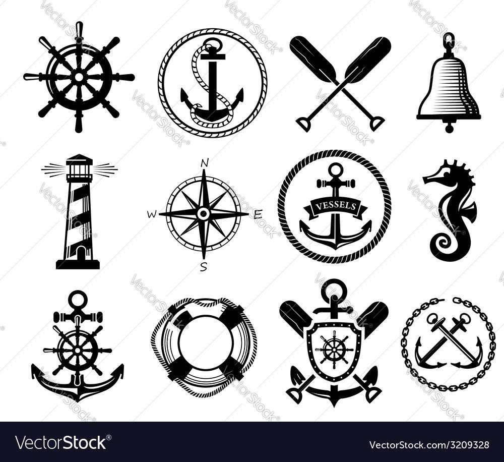 Nautical icon vector