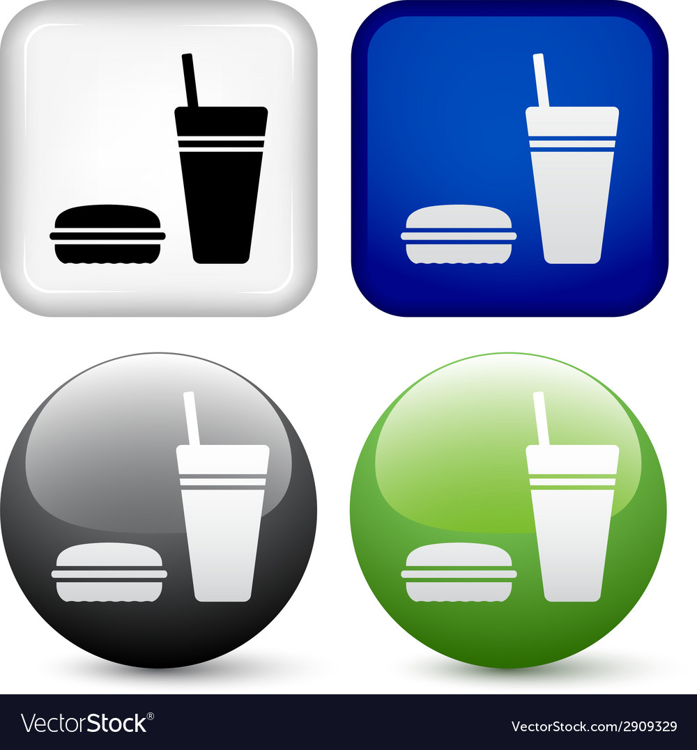 Food buttons vector