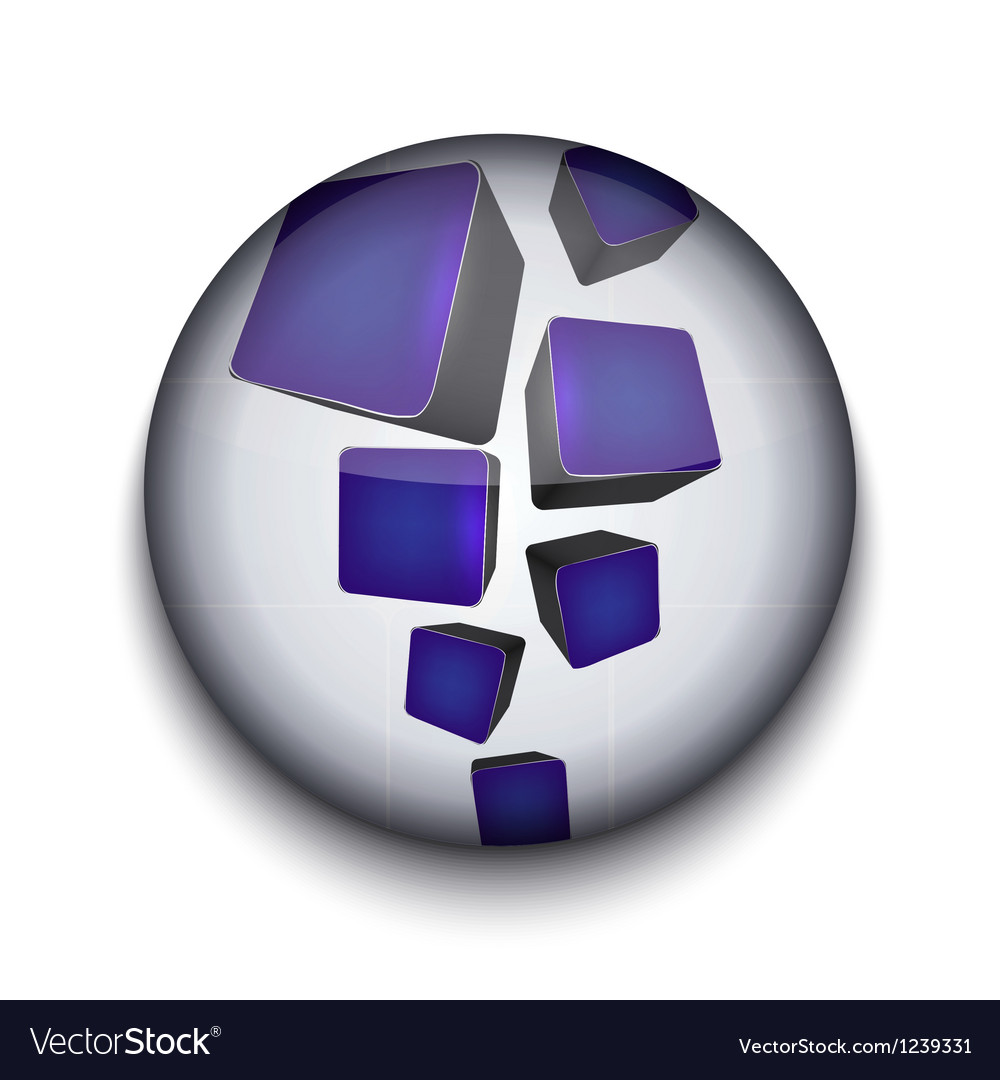 Abstract app icon vector