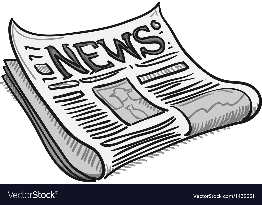 Newspaper cover page vector